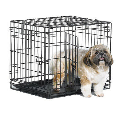 "24"" Medium Pet Dog Cage Crate Foldable Carry Transport Carrier"