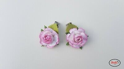 Hair Clip Flower Rose Women Girls Hair Clip Bridesmaid Handmade Fascinator