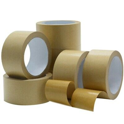 Brown Kraft Paper Tape Self Adhesive Strong Eco Packaging Parcel Material` Lizzj