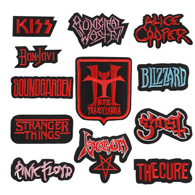 Punk Words Band Embroidered Iron On/Sew On Patch for Jean Pants Arm Badge U-PICK