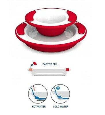 Keep Food Warm Cold Thermo Plate & Bowl - For Elderly Dementia Visual Impaired