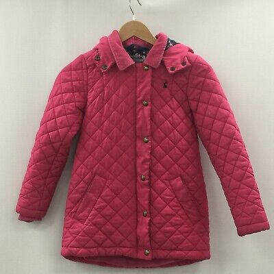 JOULES Pink Quilted Outerwear Girl's Coat Winter Padded Size 9-10 Years TH332826