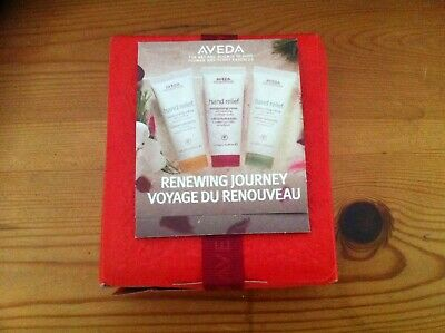 AVEDA Renewal For Your Journey Gift Set - Hand Relief Hand Creme x 3 Aromas NEW