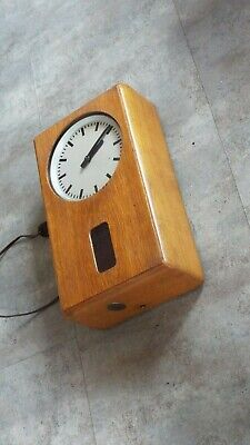 antique wall clock electric  Moser-Baer Master cl Industry machine age bauhaus