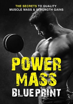 Power Mass Blueprint Ebook with Full Master Resell Rights   MRR   PDF
