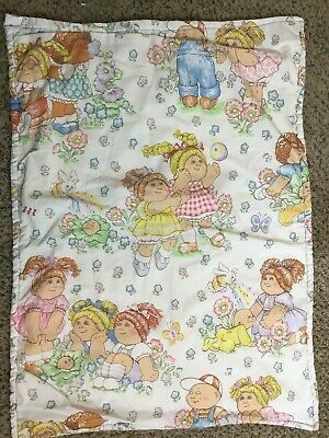 "Vintage Cabbage Patch Kids Toddler Baby Lap Blanket 39"" x 29"" Handmade"