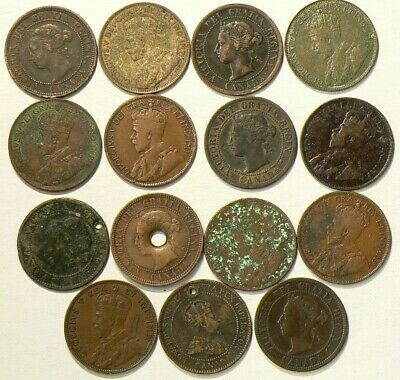 Canada Large Cents Lot of 15 All Culls #4890