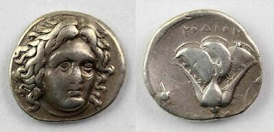 *Sc*Affordable Greek Rhodos Silver Didrachm, 4Th.-3Th. Century Ad