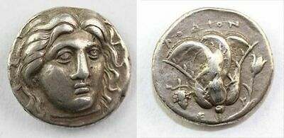 *Sc*High Relief Greek Rhodos Silver Didrachm, 4Th.-3Th. Century Ad