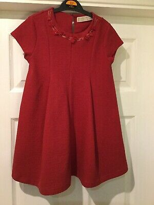 Gorgeous Red Zara Party Dress Infants Size 6. More Like 4-5. Worn Once!