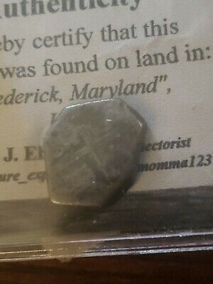 1700's Spanish Mexico Silver 1 Reales Piece of 8 Real Colonial Pendant Cob Coin
