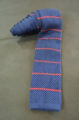 TOMMY HILFIGER, Classic Navy Blue & Red Striped Silk Neck Tie, OS, NWT, $69.50