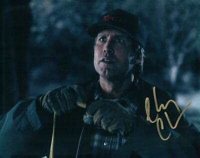 Lampoons Christmas Vacation Chevy Chase autographed signed 8x10 Photo Pic COA