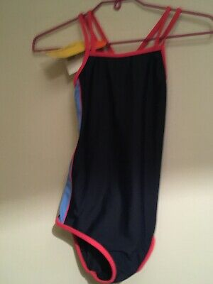 Girls Navy Swimming Costume CrossCross Sporty Age 11-12 Mountain  Warehouse BNWT