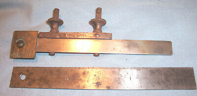 "STARRETT 299 Rule Clamp Coupler & 307 6"" Ruler Machinist Lathe Mill Tool"