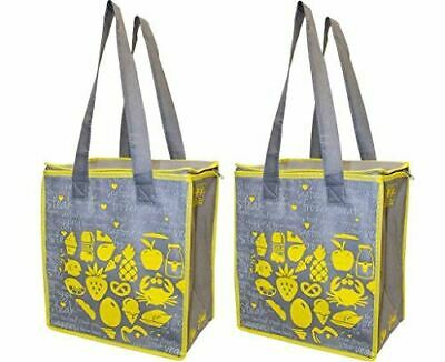 Large Insulated Reusable Grocery Bag Shopping Hot Cold Thermal Cooler ( 2 Pack)