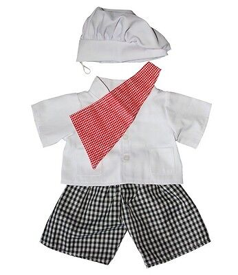 """Teddy Bear Clothes - Chef Outfit 16"""", fits 16"""" teddy mountain and Build a Bear"""