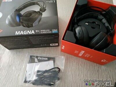 TRUST Cuffie Gaming GXT 393 Magna Wireless Surround 7.1 PC PS4 XBOX