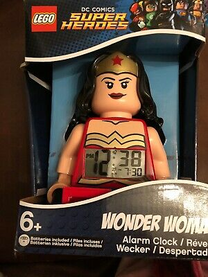 Lego Dc Comics Super Heroes Wonder Woman Minifigure Alarm Clock