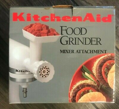Kitchen Aid Food Grinder Stand Mixer Attachment Accessory Model FGA White