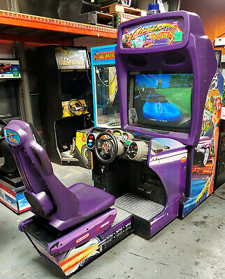 Cruisn Exotica Deluxe Full Size Arcade Sit Down Driving Game Works Great Cruisin