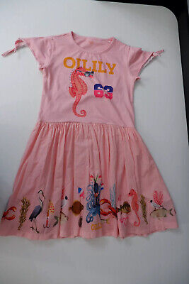 Oilily Girls Dress, Size Age 12 Years, Pink, VGC