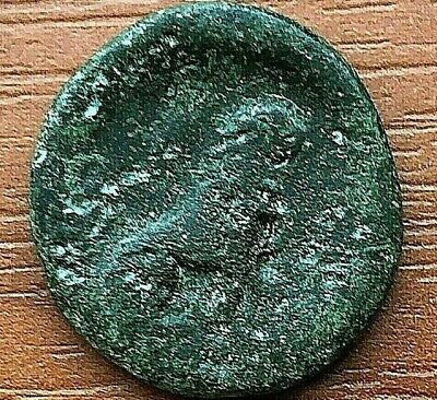 """Thrace, Lysimachia 309-220 BC AE20 """"Tyche & Lion"""" Ancient Greek Bronze Coin"""