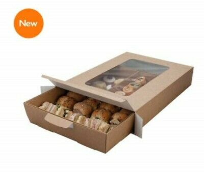 Sandwich Platter Box, Disposable Catering Box for Packaging Sandwich - Large