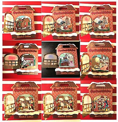 2019 Disneyland+Disney World Christmas Gingerbread House Collection All 9 Pins