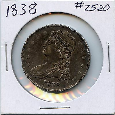 1838 50C Capped Bust Silver Half Dollar. Circulated. Lot #2220
