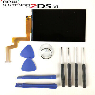 New OEM Nintendo New 2DS XL Top Up LCD Screen Replacement Repair Part + Tools