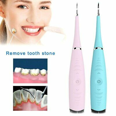 Portable Electric Sonic Ultrasonic Dental Scaler Tooth Stains Tartar Usb Chargi