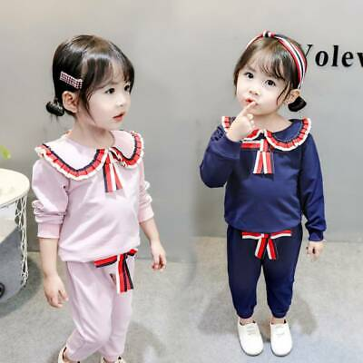 Toddler Kids Baby Girl Outfits Tops Sweatshirt Pants Tracksuit Clothes Set 6M-3Y