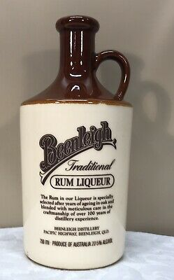 Vintage 1988 Beenleigh Traditional Rum Liqueur Bottle - 23cm High