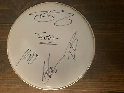 Drum Head Signed By All 4 Current Members Of The Band Fuel Wcoa Brett Scallions