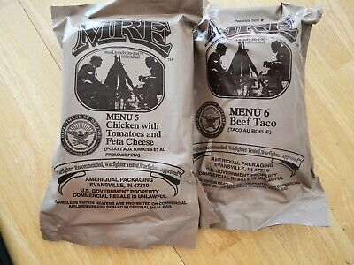 2 Military Mre New Individual Meals Ready To Eat Menu #5 & #6