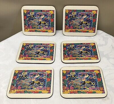 Set of 6 Vintage Ken Done Great Barrier Reef Coasters