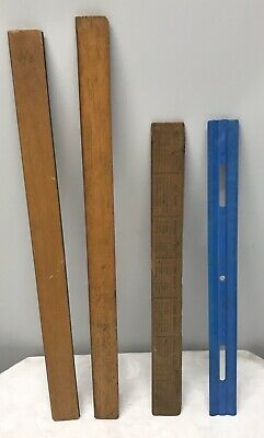 Lot of 4 Vintage/Retro Rulers