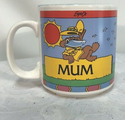 Vintage Expo 88 'Mum' Cup by Crystal Craft