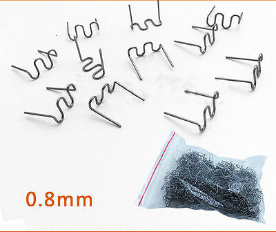 100Pcs Pre Cut 0.8mm/0.6mm Wave Flat Staples for Plastic Stapler Repair Welder