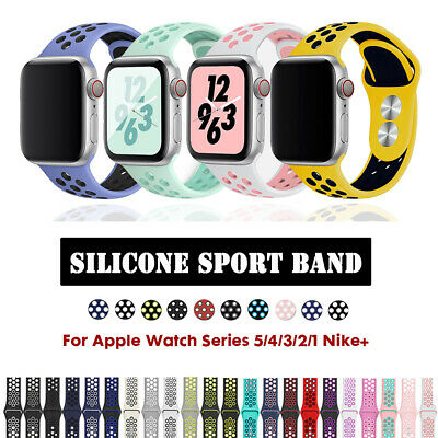 Silicone Sport Band Strap for Apple Watch Series 5 4 3 2 1 For 40/44mm 38/42mm