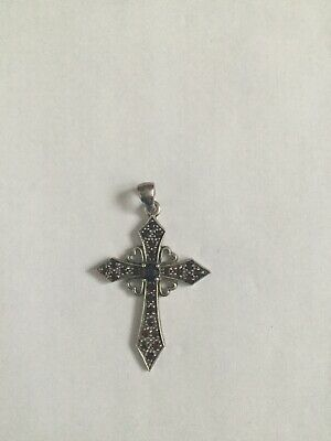 Large Antique Silver Cross Charm Pendants 30x16mm Pack of One B105//1