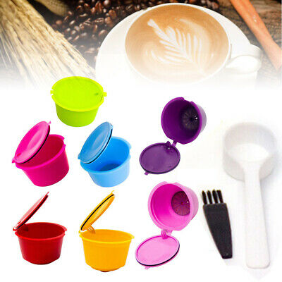 7x Refillable Coffee Capsule Cup Fit For Dolce Gusto Nescafe Reusable Filter Pod