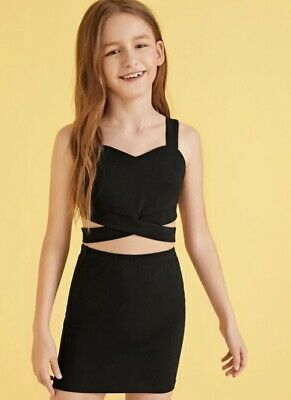Girls Top And Skirt Two Piece Age 10