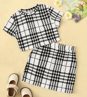 Girls Top And Skirt 2 Piece Age 10
