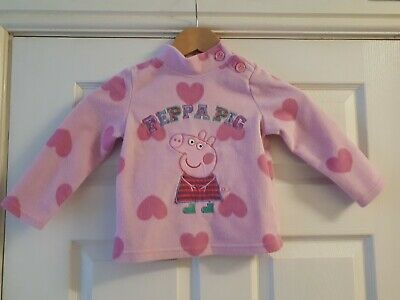 Peppa Pig 2-3 Fleece Jumper Girls Pink Fleece