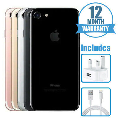 Apple iPhone 7 32GB 128GB 256GB - Unlocked-  All Colours - 12 Months Warranty