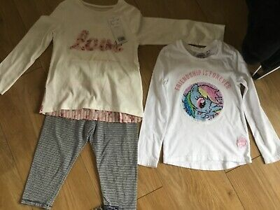 Bnwt Girls Tops F &F and leggings Mayoral age 4/5 years