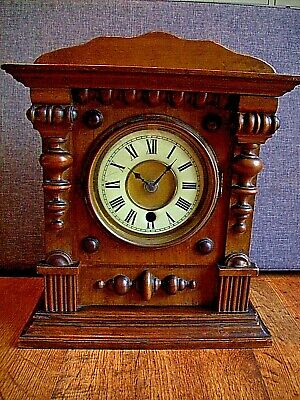 Antique 19th Century American HAC Bracket Clock with Later Electric Mechanism
