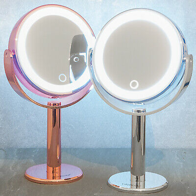Double Sided LED Lighted Shaving Vanity Illuminated Makeup Magnifying Mirror UK
